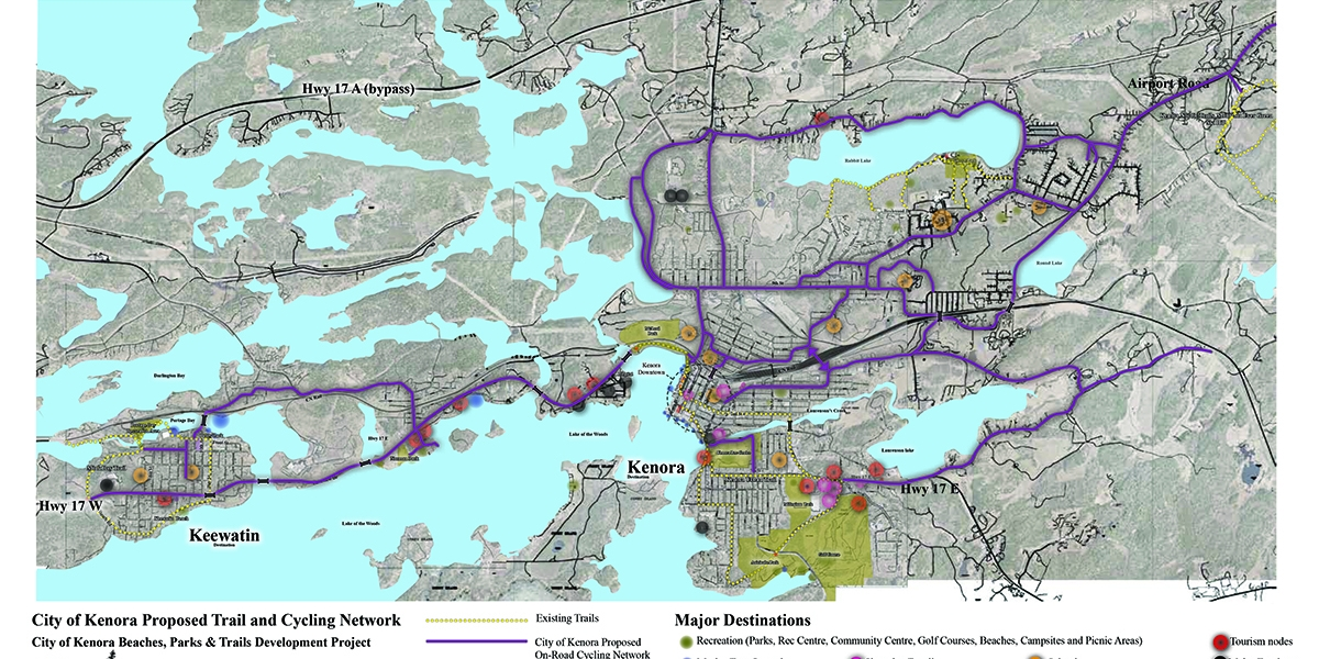 City of Kenora Trails + Cycling Network